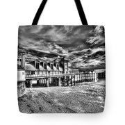Penarth Pier 6 Monochrome Tote Bag