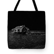 Pencil - A Houseboat Moving Placidly Through A Coastal Lagoon In Alleppey Tote Bag