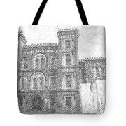 Pencil Drawing Of Old Jail Tote Bag