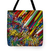 Pencils And Paperclips Tote Bag