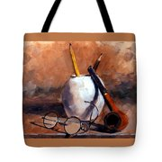 Pencils And Pipe Tote Bag