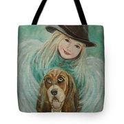 Penelope And Charlie Little Angel Of Faith And Loyalty Tote Bag
