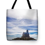 Penfield Reef Lighthouse Fairfield Connecticut Tote Bag