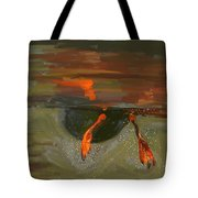 Penguin From Under Water Tote Bag