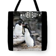 Penguin New Baby Card Tote Bag