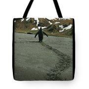 Penguin Travel Poster Tote Bag