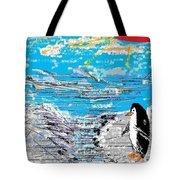 Penguins At Five O'clock Tote Bag