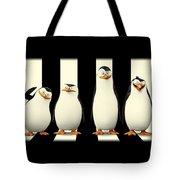Penguins Of Madagascar Tote Bag
