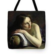 Penitent Magdalen Oil On Canvas Tote Bag