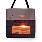 Penns Landing Arch At Sunrise Tote Bag