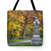 Pennsylvania At Gettysburg - 115th Pa Volunteer Infantry De Trobriand Avenue Autumn Tote Bag