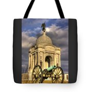 Pennsylvania At Gettysburg 2a - State Monument - Hancock Ave At Pleasonton Ave Late Afternoon Winter Tote Bag