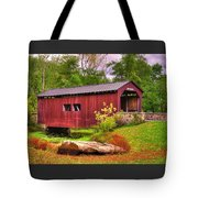 Pennsylvania Country Roads - Everhart Covered Bridge At Fort Hunter - Harrisburg Dauphin County Tote Bag