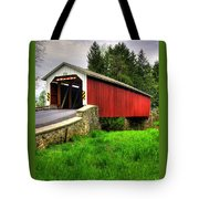 Pennsylvania Country Roads - Forry's Mill Covered Bridge - Lancaster County Spring No. 2 Tote Bag