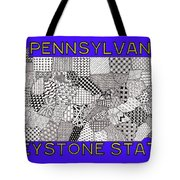 Pennsylvania Map Blue Tote Bag