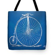 Penny-farthing 1867 High Wheeler Bicycle Blueprint Tote Bag