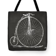 Penny-farthing 1867 High Wheeler Bicycle Patent - Gray Tote Bag