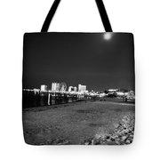 Pensacola Beach At Night Tote Bag
