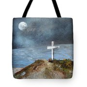 Pensacola Beach By The Light Of The Moon Tote Bag