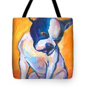 Pensive Boston Terrier Dog  Tote Bag