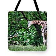 Pensive Giraffe Tote Bag
