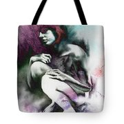 Pensive With Texture Tote Bag by Paul Davenport