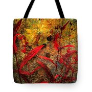 Penstemon Abstract 5 Tote Bag