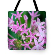 Pentas 'cranberry Punch' Flowers Tote Bag