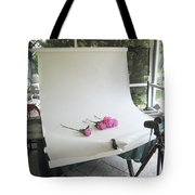 Peonies And Paper Backdrop Tote Bag