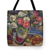 Peonies And Summer Fruit Tote Bag