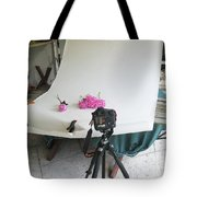Peonies And Tripod Tote Bag