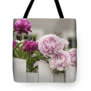 Peonies On A Picket Tote Bag