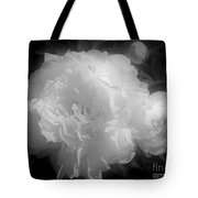 Peony Flower Phases Black And White Contrast Tote Bag