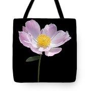 Peony Flower Portrait Tote Bag
