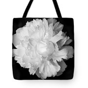 Peony In Bw Tote Bag