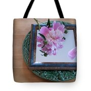 Peony Square Circle Sora's Flower Tote Bag