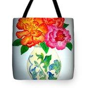 Peonys In Vase Tote Bag