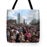 People As Far As The Eye Can See Tote Bag