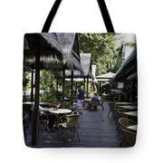 People At The Breakfast Table In A Hotel In Sentosa In Singapore Tote Bag