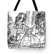 People At The Cafe Tote Bag