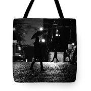 People In Rain  Tote Bag