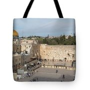 People Praying At At Western Wall Tote Bag