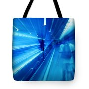 People Rush In Subway. Tote Bag