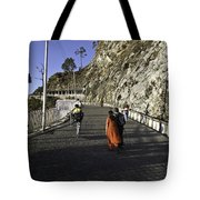 People Walking On The Path Leading To Shrine Of Vaishno Devi Tote Bag