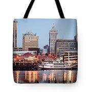 Peoria Illinois Skyline Tote Bag