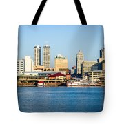 Peoria Skyline And Downtown City Buildings Tote Bag