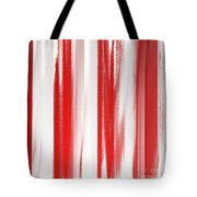 Peppermint Stick Abstract Tote Bag