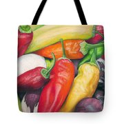 Peppers And Onions Tote Bag