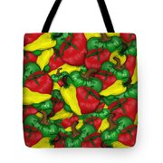 Peppers And Tomatos Tote Bag