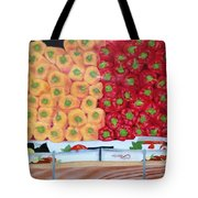 Peppers Red And Yellow Tote Bag